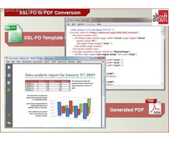 Easily convert an XML file to PDF