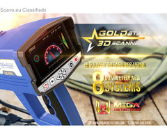 Gold Star 3D Scanner - Professional Metal Detector for Treasure Hunters / New 2020